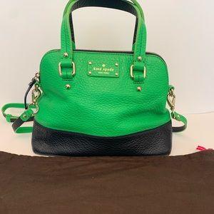 Kate Spade Grove Court Maise Green & Navy handbag